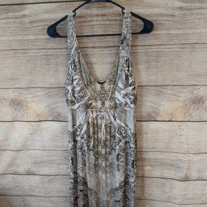 Apt 9 Black Silver Maxi Dress Size L #D Women's